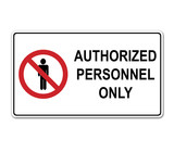 Pegatina AUTHORIZED PERSONNEL ONLY poster