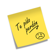 Post-it TE PIDO PERDON