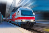 Fototapety Modern high speed train