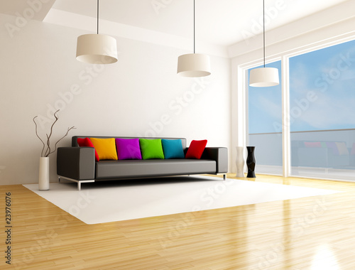 modern colored living room