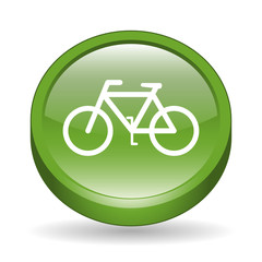 Glossy Bicycle Sign 3D Icon