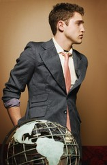 Young Man With Globe