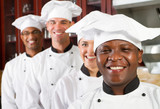 group of happy chefs