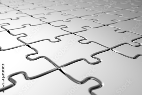 Blank puzzle with very shallow depth of field