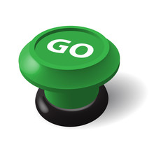 GO pushbutton (web button internet ok yes start submit 3D image)