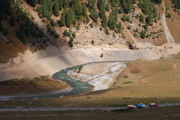 Sindh River, Kashmir, India