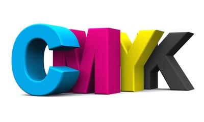 3D - CMYK Buchstaben - freigestellt