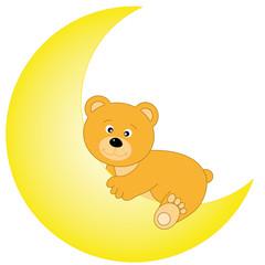 oso  encima de la luna