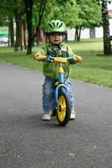 Learning to ride on a first bike