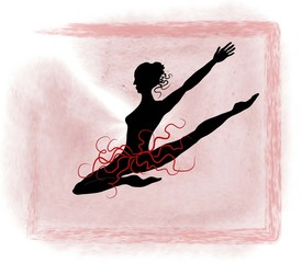 dancer illustration design