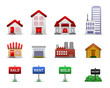 Real Estates Icons Vector