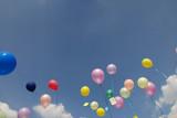 Up  to the sky Wünsche Luftballons Fest Feier Geburtstag