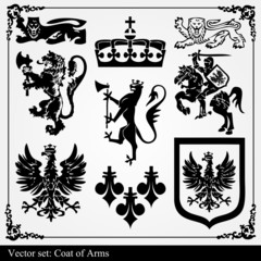 Heraldic vector element background