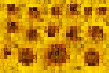 イメージでヒマワリのブロックモザイク