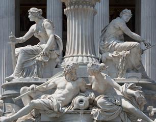 Steinskulptur Parlament Wien