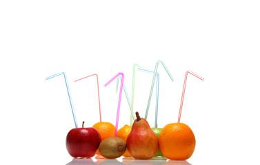 Fruits avec paille