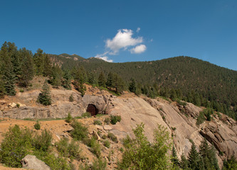 Colorado Springs Mountainside on Sunny Day