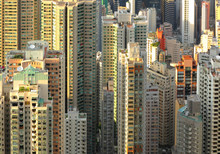 many buildings in Hong Kong