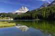 Leinwandbild Motiv Die Postkarte vom Missurinasee der Dolomiten
