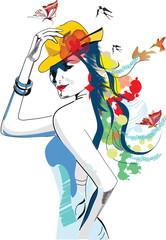 abstract summer girl