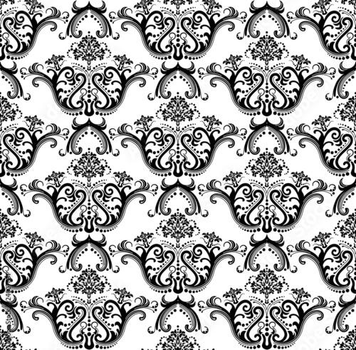 Black And White Paris France Wallpaper. Luxury seamless black & white