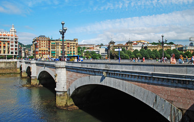 A bridge in San Sebastian.