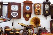 antiques fair market wall old clocks - 24008685