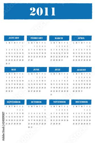 calendario 2011 ingles