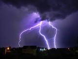 Fototapeta błyskawica - burza z piorunami - Burza / Burza z piorunami
