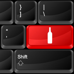 computer button drink
