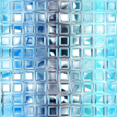 Fototapeta Seamless blue glass tiles texture