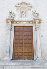 Wooden Portal of Cathedral St. Sabino. Bari. Apulia.