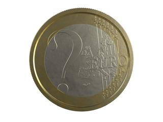 ? EURO on white background
