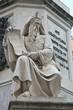 Escultura de Moises en la columna de la Inmaculada en Roma
