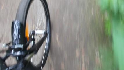 rotating wheel of bicycle