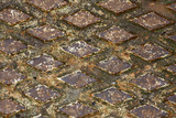 Rusty drain cover background poster