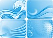 Onde e Acqua Astratte-Abstract Water and Waves-Vector