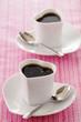 tasses de café en forme de coeur