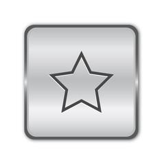 Chrome star button vector