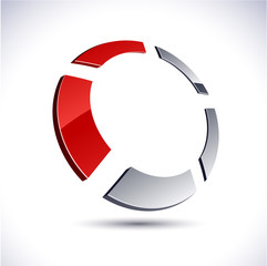 Abstract 3d round icon.