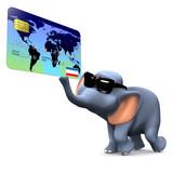 3d Elephant makes a transaction poster