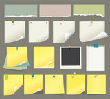 Fototapety Vector paper and post-it collection