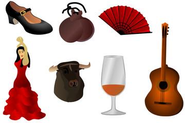Flamenco, Feria - Clipart