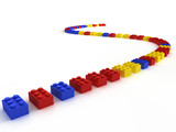 lego color block poster