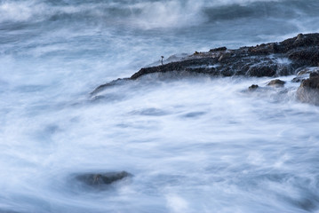 """Blurred ocean waves, The Sea Ranch, California"""
