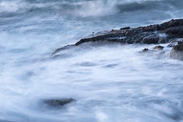 """Blurred ocean waves, The Sea Ranch, California"""