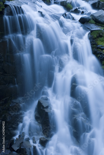 Close up of blurred waterfall