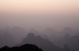 """Hills silhouetted, Guilin, China"""