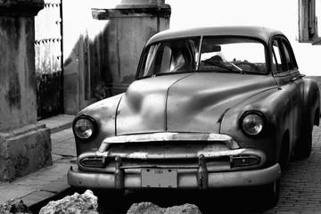 Parked 1950s Chevrolet sedan