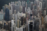 """Cityscape of urban highrises, Hong Kong, China"""